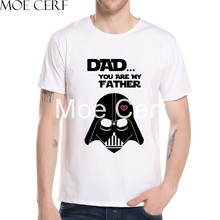 Darth Vader DAD YOU ARE MY FATHER Letter Design Men T-shirts 2019 New Arrivals Star Wars T Shirt Harajuku Tops Tee Shirts L9H-27(China)