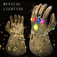 Marvel Avengers 4 Endgame Thanos Infinity Musical Lighting Gloves Cosplay Costumes Infinity Stones Led Gauntlet Glove Toys