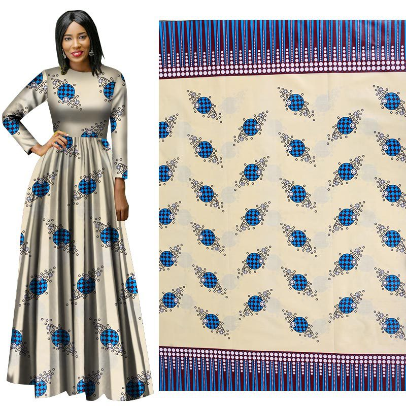 2019 new ethnic style cotton printed cloth plain geometric print dress skirt suit jacket African clothing
