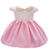 Newborn 1 Year Birthday Dress Baby Kids Clothing Lace Christening Ball Gown Beads Decoration Events Party