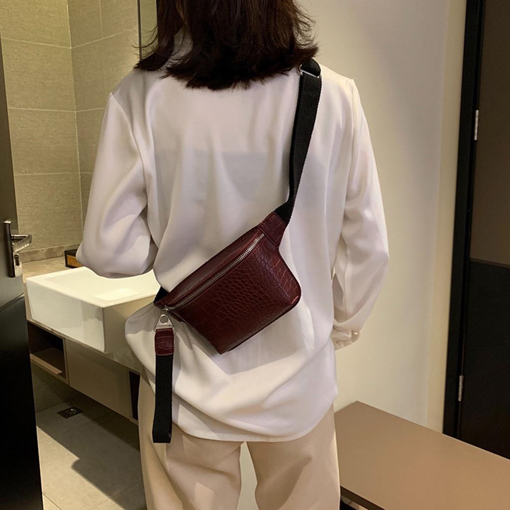 2019 Fashion Outdoor Women's Crocodile Leather Multicolor Chest Bag Fashion High Quality Handbag Chest Waist Purse Bags