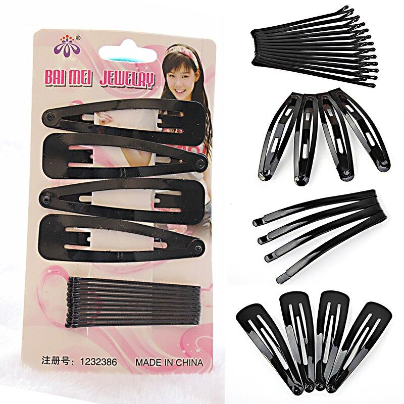 New 1 Set/14 pcs Women Girls Popular Black Hair Barrette Hairpin Girls Bobby Pins Updo Tools