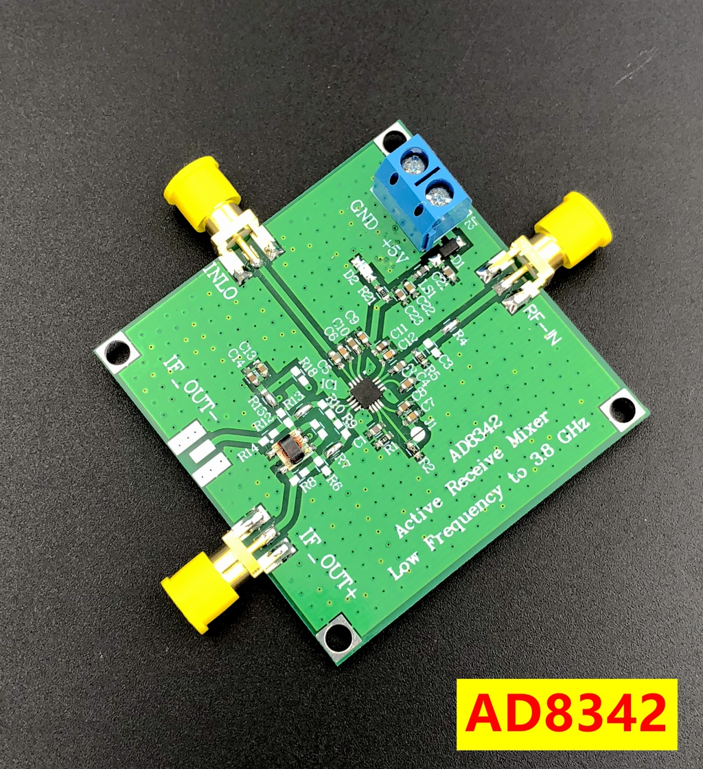 AD8342 Active Mixer LF to 3.8GHZ Down Conversion Frequency Conversion Output with Balun Transform ade 6 passive mixer module rf up down frequency conversion 0 05mhz 250mhz