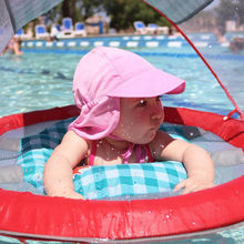 Summer Baby Sun Hat Children Outdoor Neck Ear Cover Anti UV Protection  Beach Caps Kids Boy Girl Swimming Flap Cap For 0-5 Years d547b2e4f03c