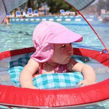 Verano del bebé del sombrero del sol al aire libre del cuello del oído  cubierta Anti UV protección Playa Los Boy Girl natación . 43ef7e08236
