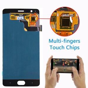 Image 4 - فانكا 5.5 بوصة AMOLED ل Oneplus 3 ثلاثة A3000 A3003 شاشة الكريستال السائل مجموعة المحولات الرقمية لشاشة تعمل بلمس 1080*1920 أداة غلاسفيلم الحرة