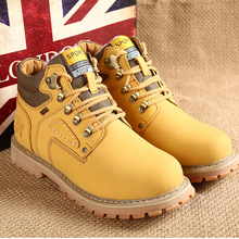 Men winter snow boots 2016 hot PU warm ankle boots shoes man