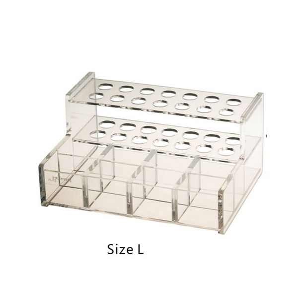 1PC Transparent Dental Adhesive Resin Syringe Acrylic Organizer Holder Case size L