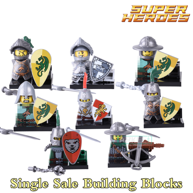 Building Blocks Medieval Knights Gladiatus Dragon Frightening Warrior X0148 Figures Super Heroes Bricks Kids DIY Toys Hobbies building blocks agent uma thurman peeta dc marvel super hero star wars action bricks dolls kids diy toys hobbies kl069 figures