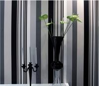 Hot selling wallpaper Black&Gray&white stripe style wallpapers Home Decor Wall paper DIY wallpaper papel de parede