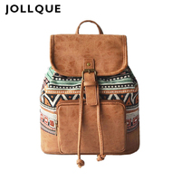 Jollque Womens Backpack Purse Mochilas Small Backpack for Women Bohemia Travel Laptop Backpacks Girls School Bags
