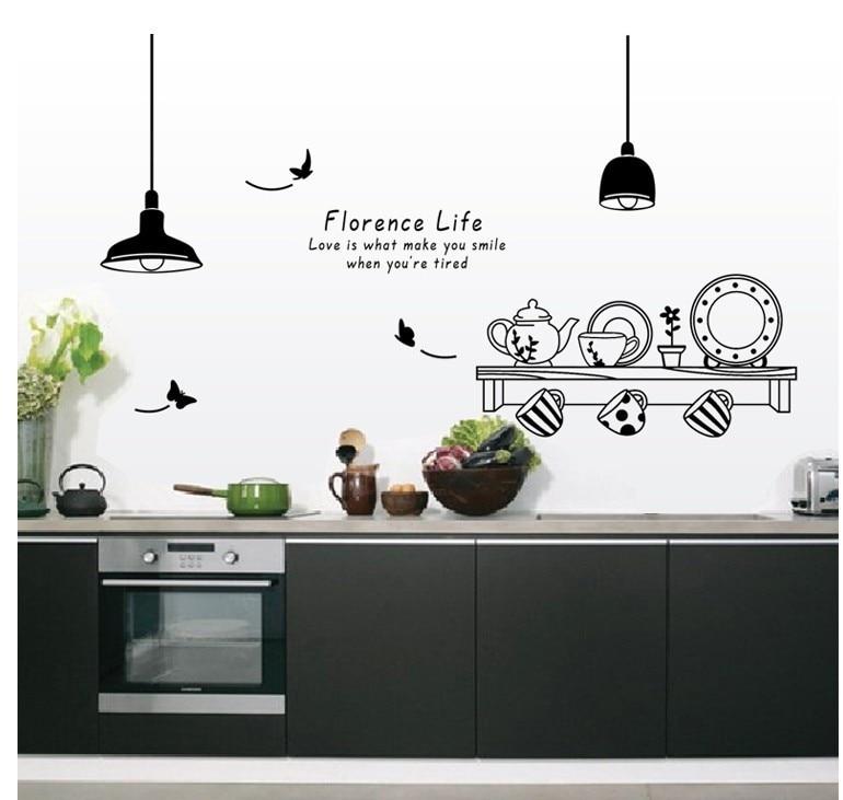 ჱEnvío libre Florencia vida extraíble pegatinas de pared cocina ...
