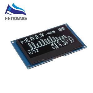 """Image 3 - 2.42 """"2,42 inch LCD Screen Weiß Gelb Grün Blau 128x64 OLED Display Modul IIC I2C SPI Serielle für C51 SPD0301"""