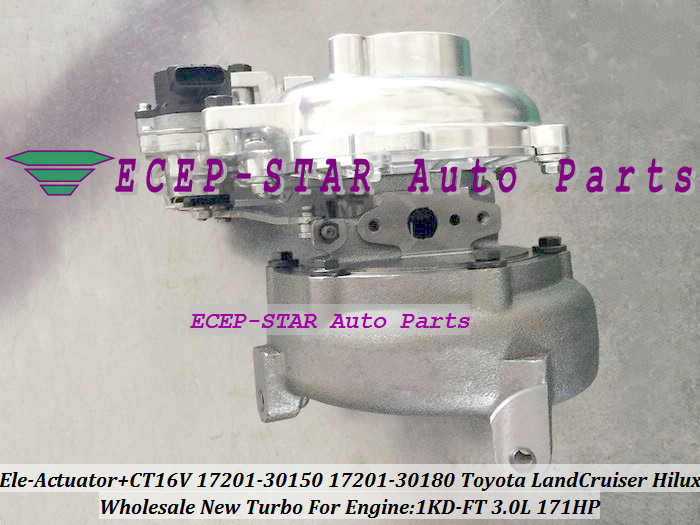 CT16V 17201-30180 17201-30150 Turbo with Electromagnetic Actuator For Toyota Land Cruiser Hilux KZJ90 KZJ95 D-4D 1KD-FT 3.0L (3)
