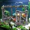 Artificial Ancient Roman Column Ruins European Castle Ornament For Fish Tank Aquarium Fish Escape Cave Ornaments