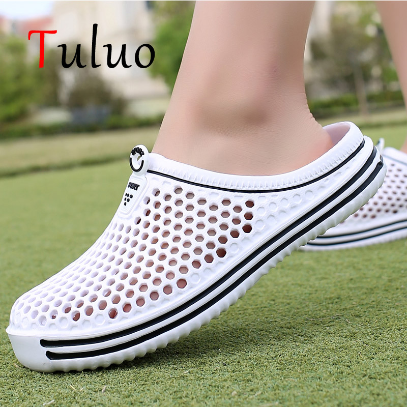 TULUO Mens Beach Pool Water Shoes Sneakers Summer Outdoor Breathable Women Garden Mules Clogs Shower Unisex Jelly Slippers 36-44