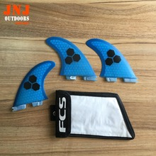 FREE SHIPPING High quality FCS II G5 fins with fiberglass honey comb material for surfing (Tri-set)G5 M FCS 2 fin bags