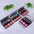 3 Colors Blush 12 Colors Eyeshadow ShimmeR Powder Blush Concealer Makeup Palette Cosmetic Beauty Accessories With Brush Mirror