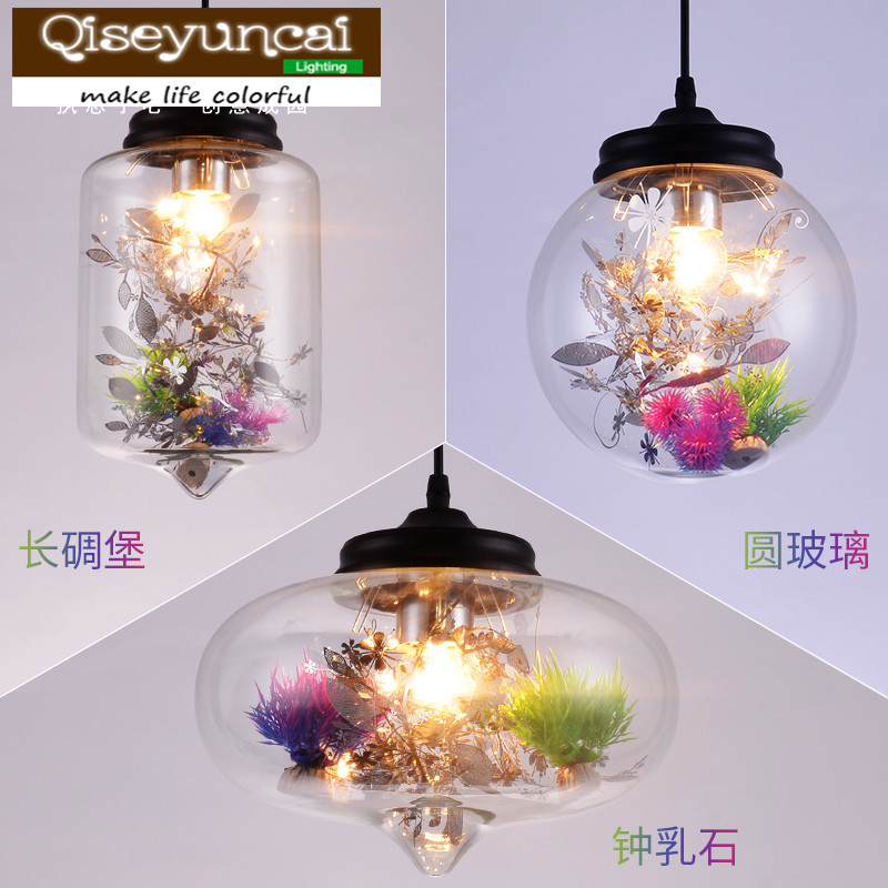 Qiseyuncai 2018 Nordic modern restaurant flower glass chandelier creative personality bedroom study living room lightingQiseyuncai 2018 Nordic modern restaurant flower glass chandelier creative personality bedroom study living room lighting