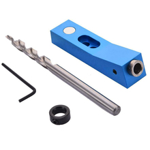 Fine Quality Aluminum Alloy Mini Magnetic Pocket Hole Jig Set Practical System Woodworking Hole Punch Locator
