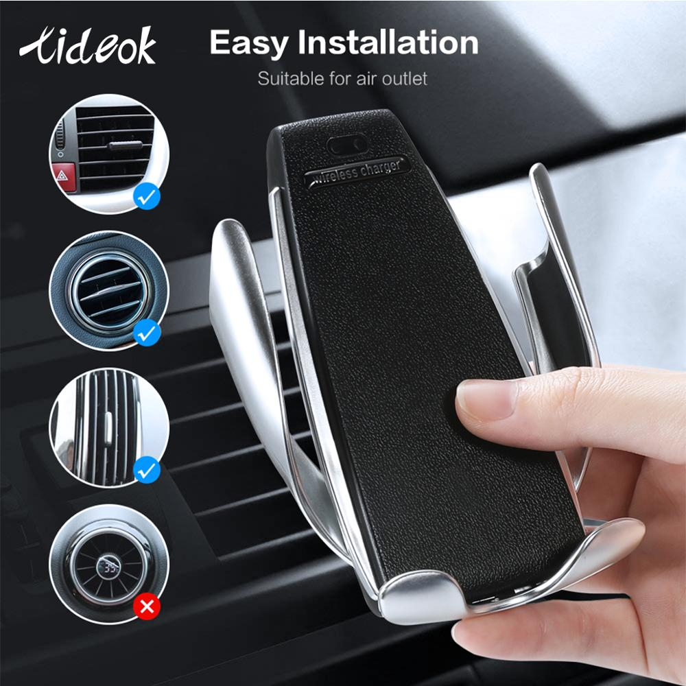 Tideok Car-Charger Air-Vent-Phone-Holder iPhone Xs Samsung S10 10w Wireless in for Xr-X-8