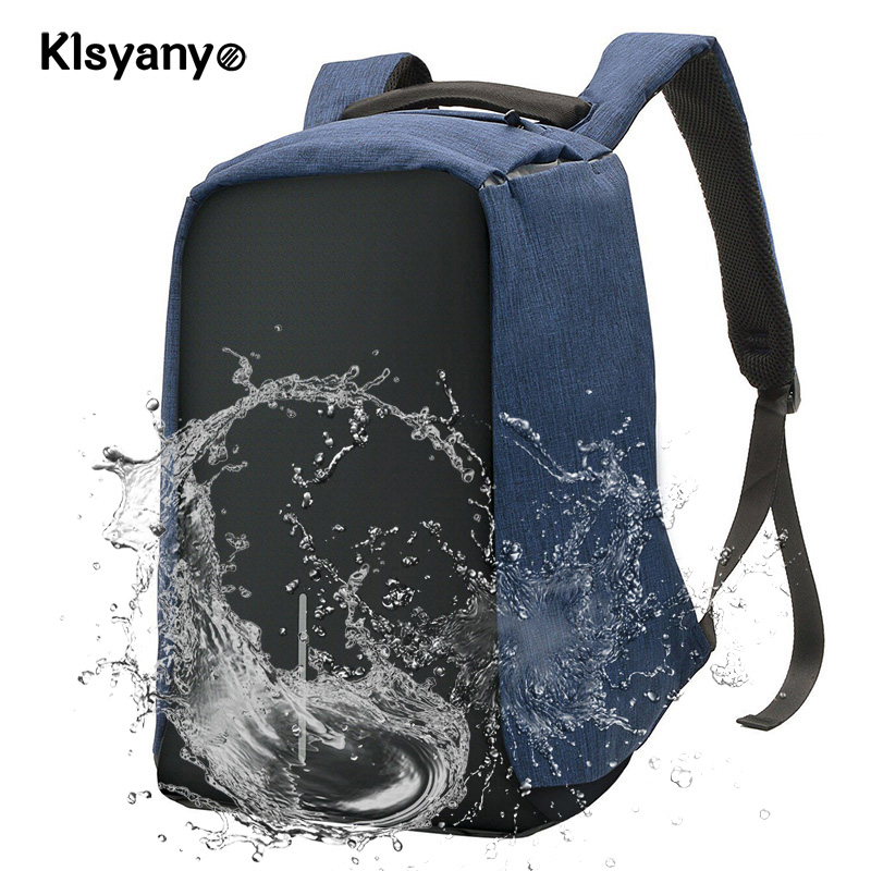 Anti-theft Laptop Notebook Rucksack with External USB Charging Port Waterproof Business/College Rucksack Used with Trolley Box