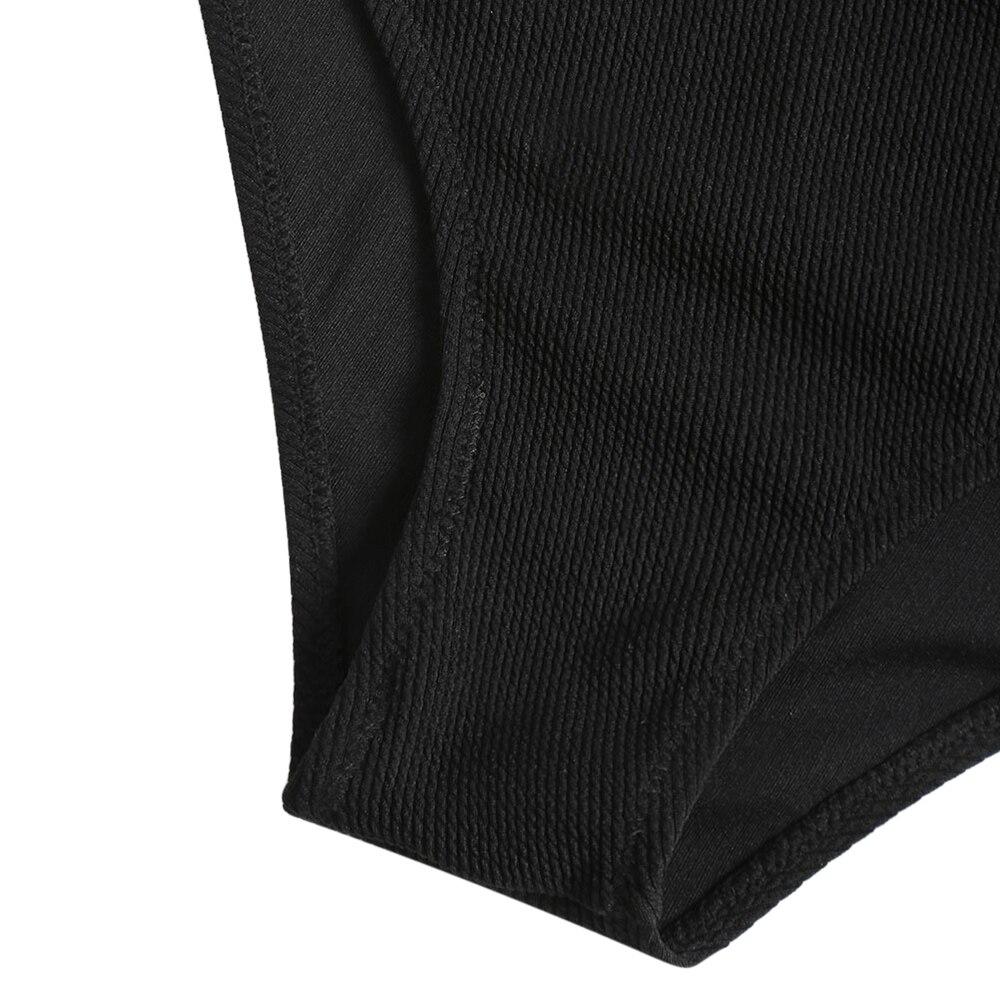 2018 New Swimwear Women High Waisted Swimsuit Sexy Cat Print Off Shouder Bikini Set Cover Up Black Beach Bathing Suit Monokini