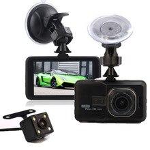 Full HD Car Detector 1080P 3.0″ LCD Screen Car Dashcam DVR Recorder 170 Wide Angle Lens G-Sensor+Vehicle Rear Camera