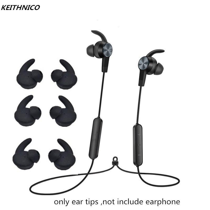 KEITHNICO-auriculares de silicona con puntas de orejeras, gancho de repuesto para Huawei Honor xSport, con Bluetooth, AM61, 3 pares