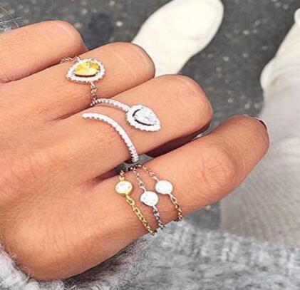 2018 elegant fashion jewelry cute delicate sparking cubic zirconia cz adjust open cz bar cheap wholesale women jewelry rings