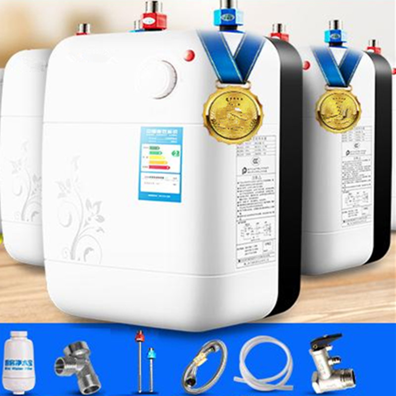 8L Vertical Suqare Type Electric Rapid Small Tank Storage Water Heater Household Bathroom Induction Hot Shower accept OEM order high quality 32l hot water storage type heating machine electric water heater for shower bathroom device eu us plug