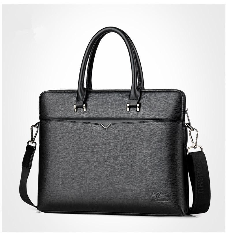 men's leather Briefcase Men Business Handbag 14 Inch Laptop Shoulder Messenger Bags Tote man Briefcases male Crossbody bag 2018
