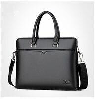 men's leather Briefcase Men Business Handbag 14 Inch Laptop Shoulder Messenger Bags Tote man Briefcases male Crossbody bag 2018 Men's Backpacks