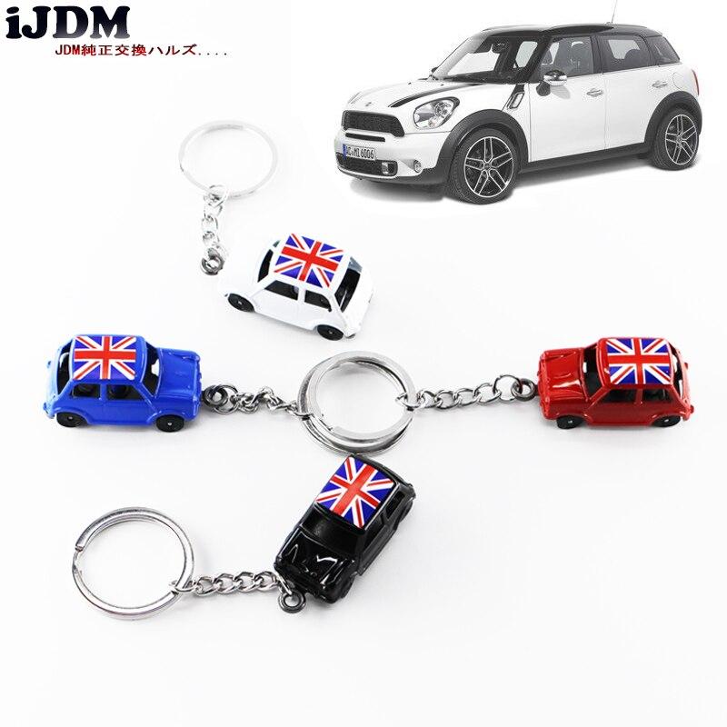 IJDM Premium 1: 60 Klassische Union Jack Für MINI Cooper Diecast Schlüssel Schlüsselanhänger, Für MINI COOPER F55 F56 R55 R56 R60 R61
