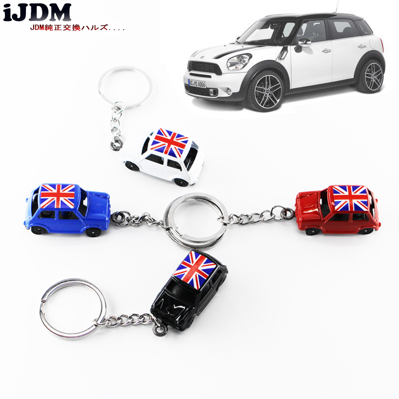 iJDM Premium 1:60 Classic Union Jack For MINI Cooper Diecast Key Chain Key Ring Keychain,For MINI COOPER F55 F56 R55 R56 R60 R61 1pair union jack car side door skirt decal sticker decor for mini cooper f54 f55 f56 f60 r55 r56 r60 r61 car styling accessories