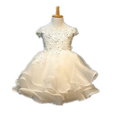 BBWOWLIN Baby Clothes 1 Year Birthday Dress Ivory Christening Gowns vestido Batizado Wedding Flower Girls Dressed