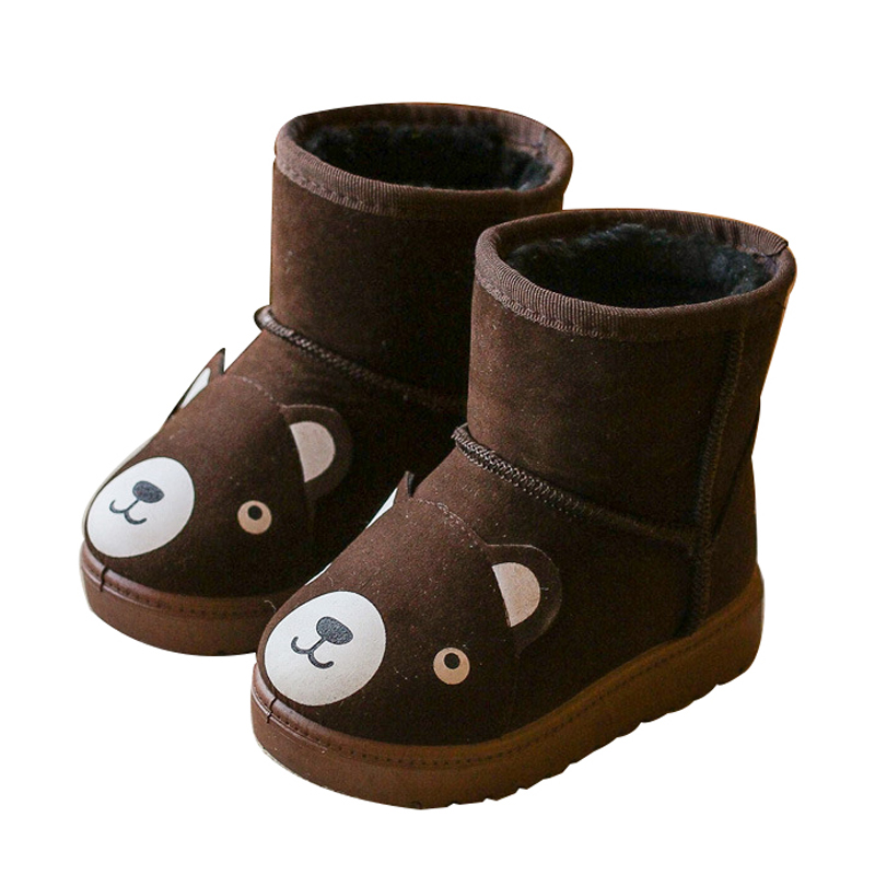 Toddler Little Girls Lovely Winter Plush Inner Short Ankle Snow Boots