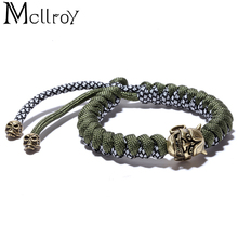 Mcllroy charm bracelets & bangles men umbrella rope ancient silver accessories diy handmade bangles pulsera hombre dropshipping