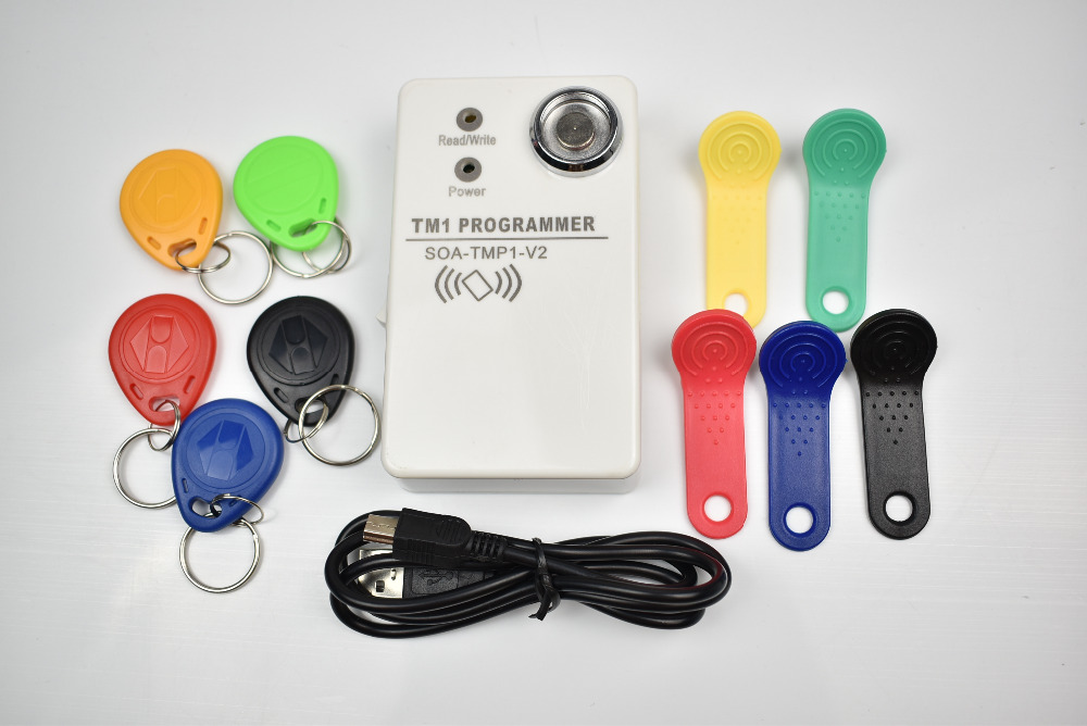 1pcs/lot TM Ibutton card handheld duplicator DS1990 RW1990 and 125khz EM4305 T5577 and compatible rfid <font><b>copier</b></font>