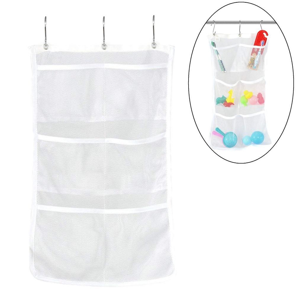 Bathroom Tub Shower Bath Hanging Mesh Organizer Caddy Storage Bag High Quality Housekeeping Container Organizers Convenient