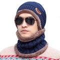 Pasamontañas Hombres Calientes Sombreros Casquillo de la Bóveda de 2016 Invierno Tejer Sombrero de Lana para Unisex Caps Señora Gorro de Punto Caps Skully Hat Ski Cap bufanda