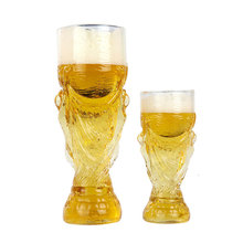 купить Creative Hercules 3D Model 2018 Football World Water Gift Beer Cup KTV Bar Customized Wine Glass Vaso Verre World Cup Souvenir дешево