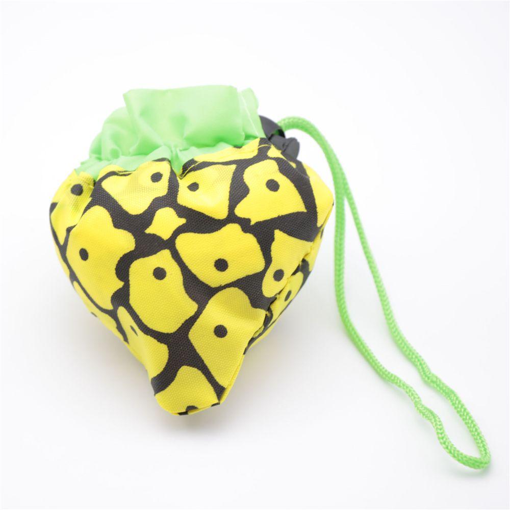 1pc Reusable Fruit Grape Pineapple Shape Nylon Shopping Bag Grocery Shopper Waterproof Tote Eco Foldable Storage Handbag 80*38cm