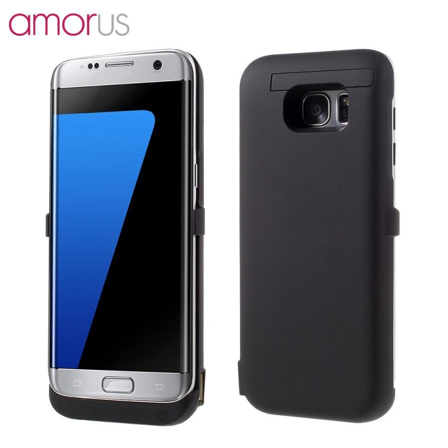 AMORUS Für Samsung Galaxy S7 Rand G935 6800 mAh Ladegerät Power Case für Samsung Galaxy S7 Rand Abdeckung Energienbank ständer