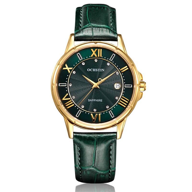 2019 femmes montres marque de luxe célèbre en cuir véritable japon mouvement montre-bracelet à Quartz femme automatique Date horloge Relogio Feminino