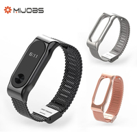 For Xiaomi Mi Band 2 Replacement Metal Strap For Xiaomi 2 Wristband Silicone Strap Belt for Miband 2 Bracelet wrist strap