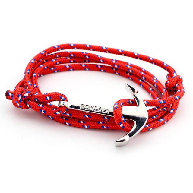 Men Anchor Bracelet (16 colors)