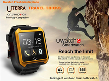 Military Quality Uterra Uwatch Bluetooth Smart Watch with HD Screen Compass Waterproof Pedometer Calls Sync Smartphone Watch