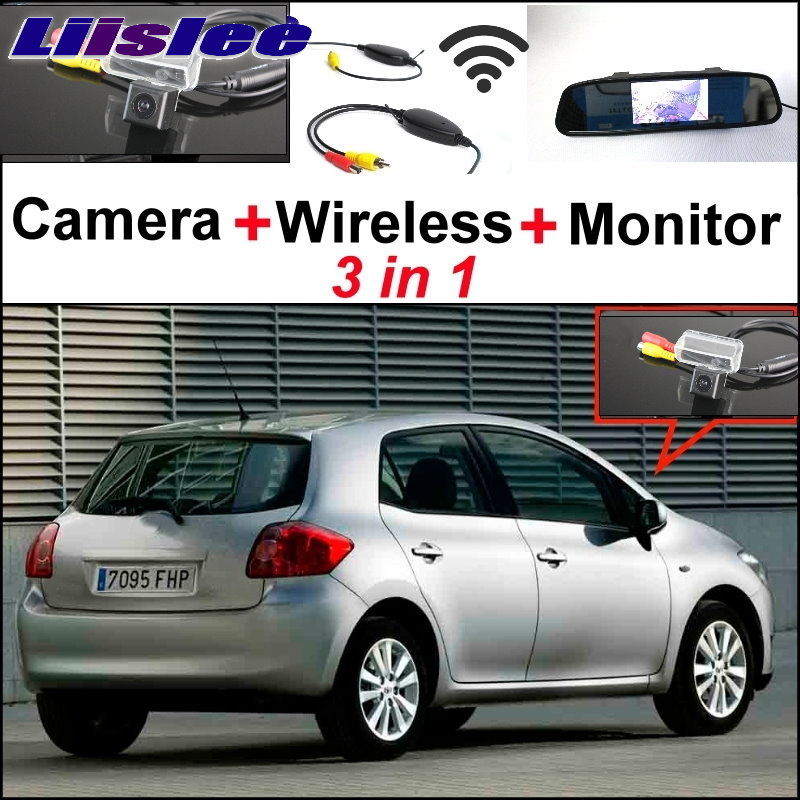 Liislee For TOYOTA Auris 2006~2012 Blade 3 in1 Special Camera+ Mirror Monitor Easy Back Up Parking System + Wireless Receiver цена