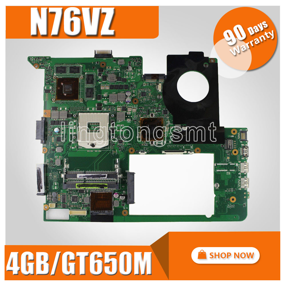 with 4GB Video card GT650M N76VZ Motherboard For ASUS N76VZ N76V N76VM N76VJ N76VB Laptop Mainboard N76VZ Motherboard test OK new russian keyboard for asus n76 n76v n76s n76vm n76vb n76vj n76vz ru laptop keyboard with backlit palmrest upper